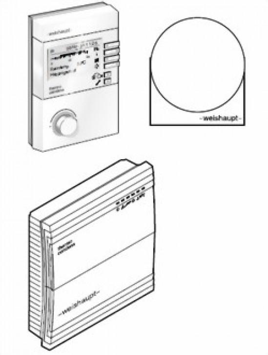 Set autarke Heizkreisregelung WCM-SKH mit WCM-EM 2.1, WCM-FS 2.0, Außenfühler