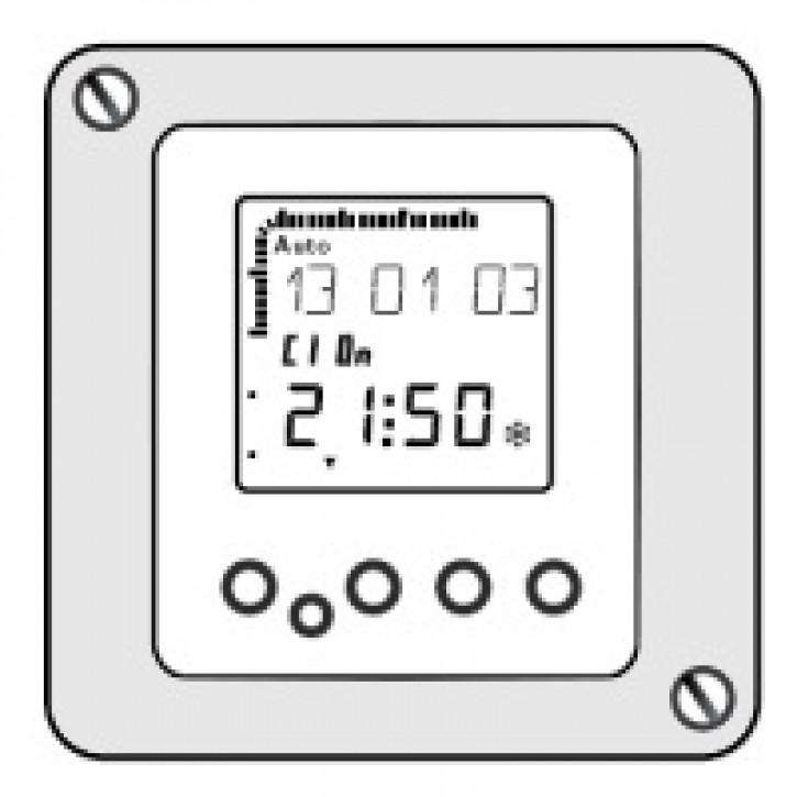 Zeitschaltuhr digital Typ WCM-DU 2.0 zweikanalig z. Einbau ins WTC-Bedienfeld