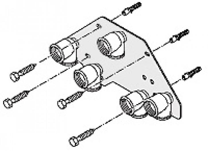 Unterputz-Montageplatte Typ WHU 4.0 für WTC15/25/32-A, Ausf. H und C