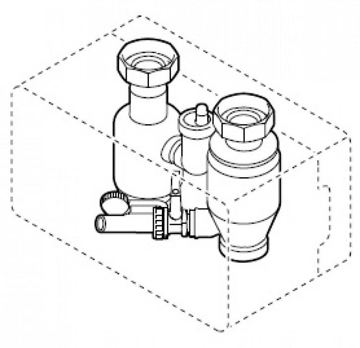 Luft- und Sediment-Abscheide-Set G 1 1/2 Typ WHL 1.0