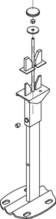 Kermi Universalkonsole Konvektor L=800 mm, weiß