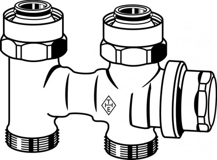 HEIMEIER Verschraubung Vekolux 2-Rohr Durchgangsform, für VHK mit G 3/4 AG