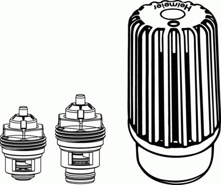 HEIMEIER Retro S - Set DN 15 Th.-Oberteil und Thermostat-Kopf B