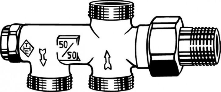 HEIMEIER Einrohrverteiler Duolux mit Absperrung