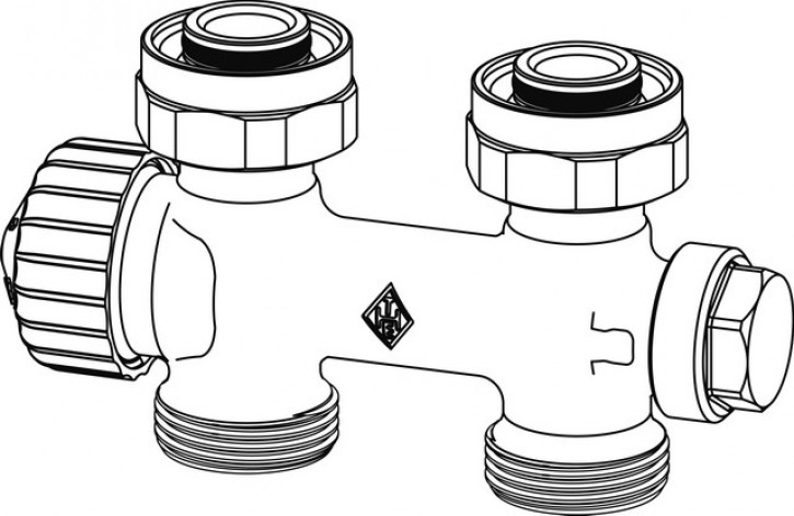 HEIMEIER Ventil Multilux Zweirohr Durchgang, Anschluss HK G 3/4 AG
