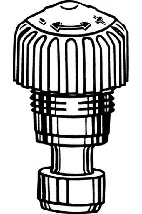 HEIMEIER Thermostat-Oberteil für VHK Bauschutzk. weiß, M 22x1,5, m. Voreinst.