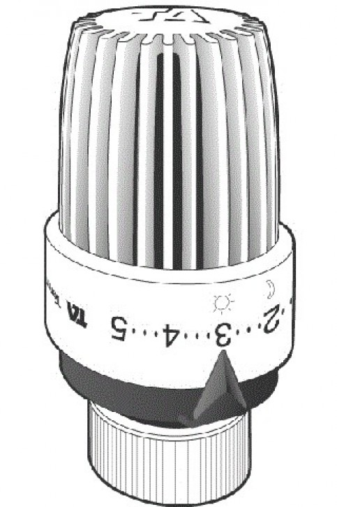 HEIMEIER Thermostatkopf TRV 300 M 28 x 1,5, weiß
