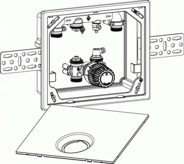 HEIMEIER UP-Kasten Multibox 4 K mit Thermostatventil, verchromt