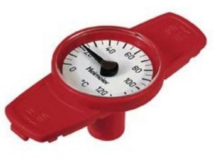 HEIMEIER Thermometer für Globo H, P, P-S zum Nachrüsten bei DN 10 bis DN 32, rot