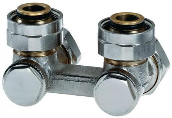 HEIMEIER Verschraubung Vekotec 2-Rohr Eckform, für VHK mit G 3/4 AG