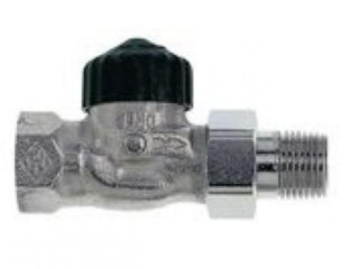 HEIMEIER Thermostat-Ventilunterteil Standard, Durchgang, DN 10, vernickelt