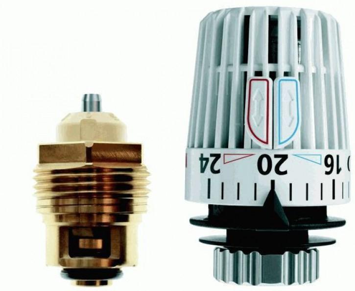 HEIMEIER Retro S - Set DN 15 Th.-Oberteil und Thermostat-Kopf K