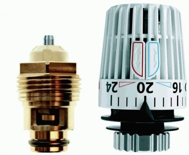 HEIMEIER Retro S - Set DN 20 Th.-Oberteil und Thermostat-Kopf K