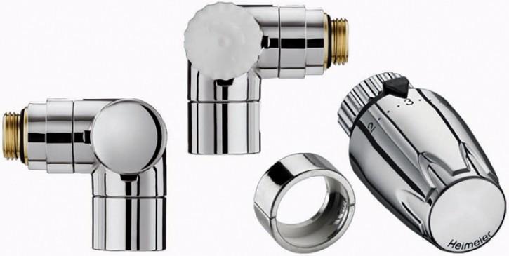 HEIMEIER Thermostatventil u. RLV, Set Design-Edition WE-li., chrom