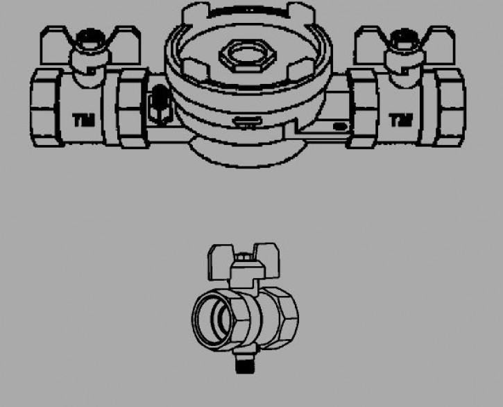 """AM Wärmezähler MK-System EAT 1""""-DS6-KH DN20 230mm"""