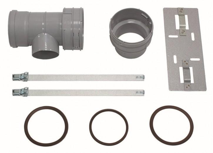 VAILLANT Set 7 T-Stück DN 100 für Abgas- anschl. 80/125 f.flex. Abgasl. DN 100,PP