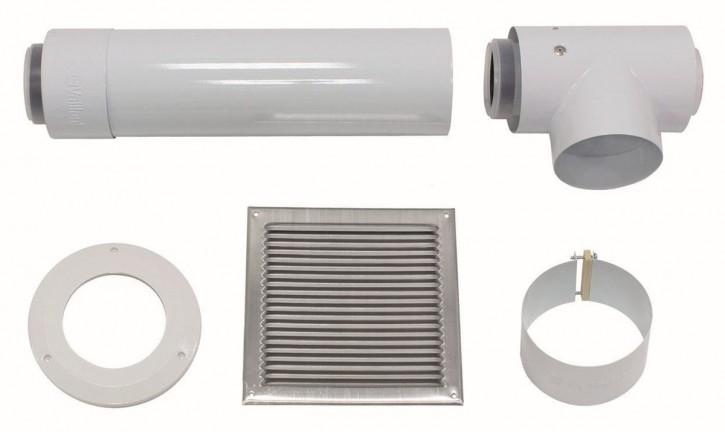 VAILLANT Basis-Anschluss-Set f. getrennte Luftzufuhr 80/125 mm PP